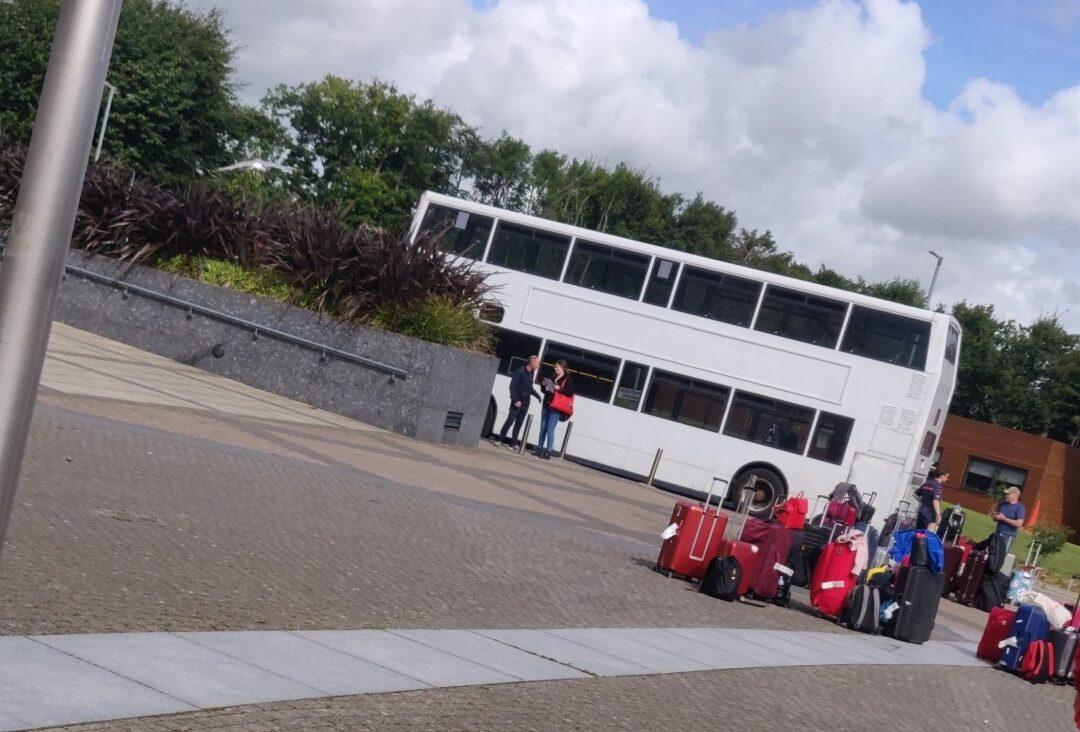 Transfer-Bus vom DCU-Campus zum Airport